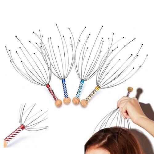1pc Claw Massager Body Massager Octopus Head Scalp Neck Equipment Anti-stress Relax Massage Tens Pain Relief Head Massager