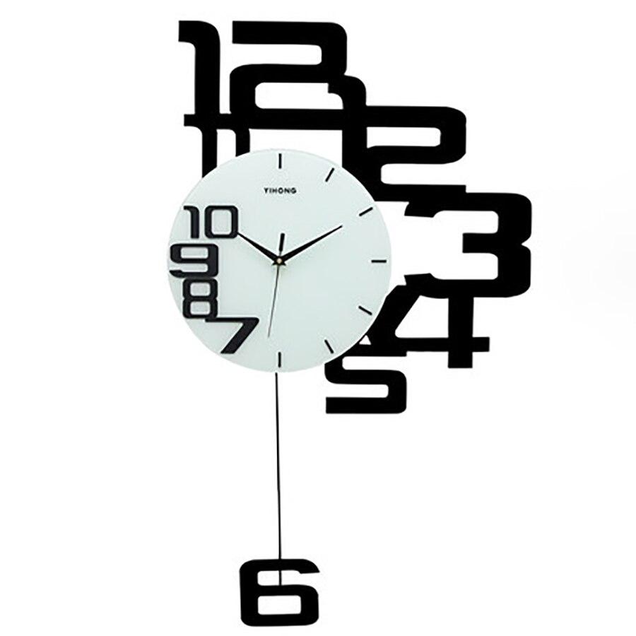 Horloge murale salon Design moderne montres murales décor à la maison horloges murales silencieuses en bois minimaliste horloge murale cuisine 50Q107