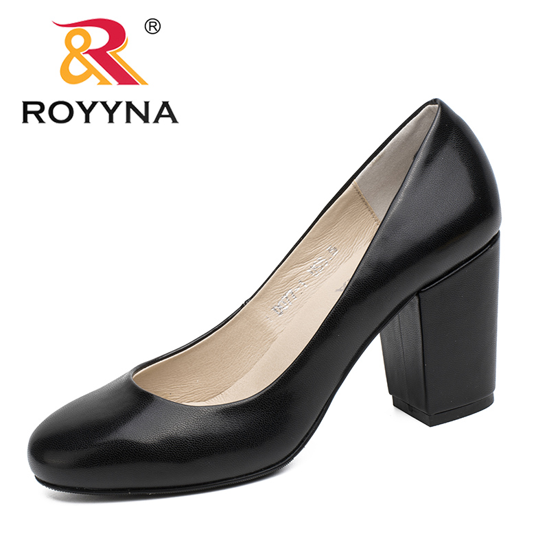 ROYYNA New Arrival Classics Style Women Pumps Shallow Lady Dress Shoes Round Toe Women Shoes Comfortable Soft Fast Free Shipping royyna new sweet style women sandals cover heel summer gingham women shoes casual gladiator ladies shoes soft fast free shipping
