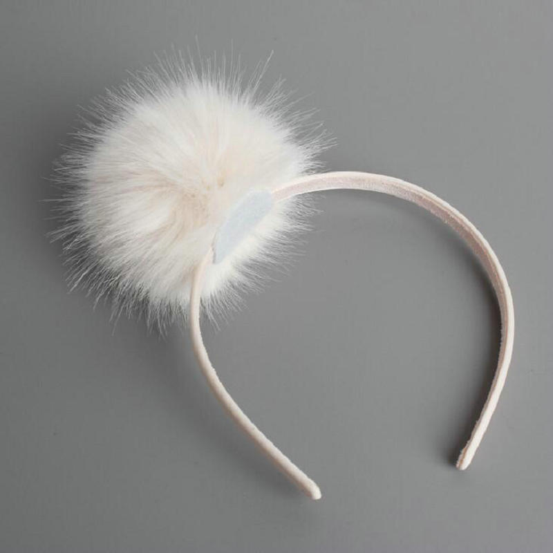 Big Furry Pom Pom Ball Hairbands