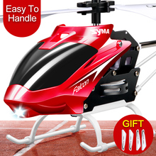 Syma W25 RC Helicopter Shatter Resistant Toy for Kids with Flashing LED Light Mini Remote Control Drone Gift Children