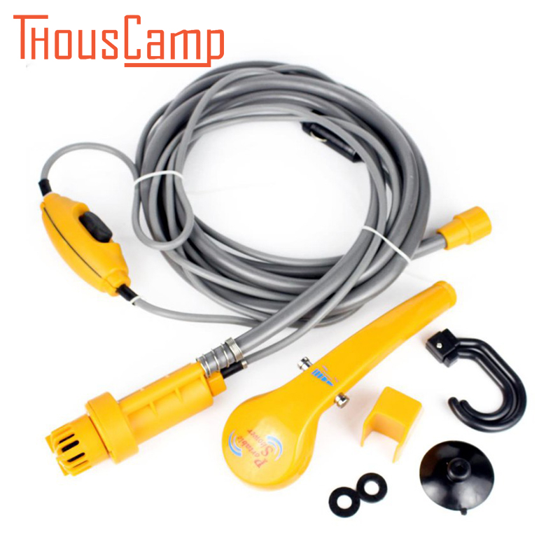 Outdoor Portable Car Washer Wash Shower kit Electric Pump Washing Machine 12v for Camping Hiking Travel