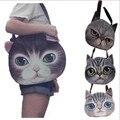 Большое лицо кошка пакет собака печати сумка borse borse da донна марке famose роскошные женщины дизайнерские сумки высокого качества бренда 49