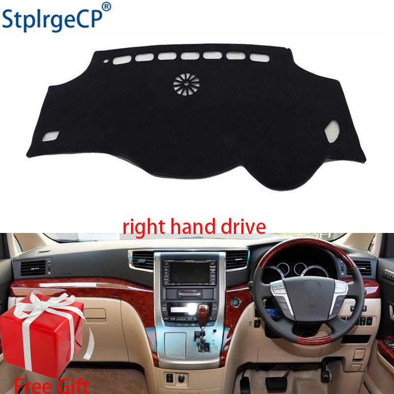 แดชบอร์ดรถสำหรับ Toyota ALPHARD 2011 2012 ไดรฟ์มือขวา Dashmat Pad Dash Mat ครอบคลุมแดชบอร์ด
