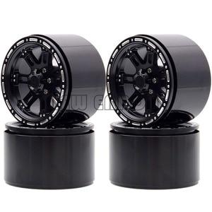 "Image 2 - Novo enron 4 pçs roda de metal jantes hub 2.2 ""apto para rc rock crawler axial wraith yeti scx10 rr10 trx4 TRX 4 km2 90045 90031 90020"