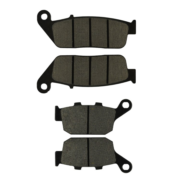2 Pairs Motorcycle Brake Pads for HONDA NTV 650 NTV650 1988-1997 Revere Black Brake Disc Pad 2 pairs motorcycle brake pads for honda cbr250 cbr 250 rj rk rk2 mc19 1988 1989 black brake disc pad
