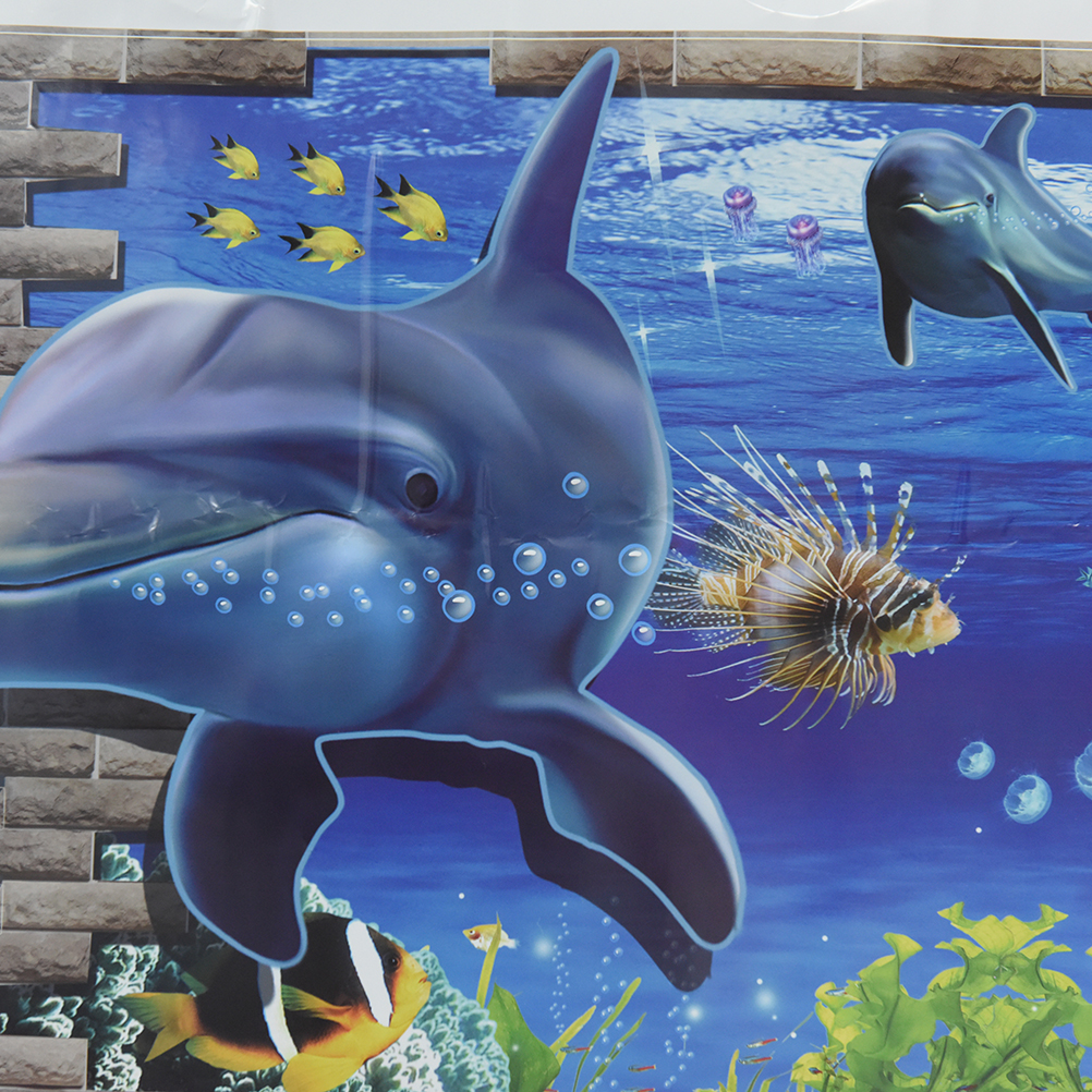 3d Popular Dolphins Sea Aquarium Dolphins Kids Room Poster Stickers  Underwater World Living Room Bedroom Decor Wall Stickers In Wall Stickers  From Home ...