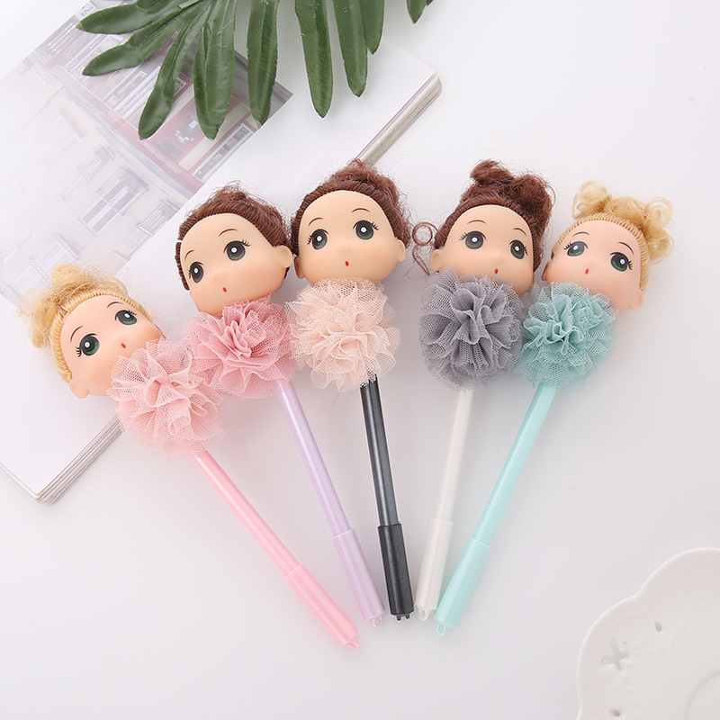 25 Pcs Gel Pens Confused Girl Lace Black Colored Kawaii Gift Gel-ink Pens for Writing Cute Stationery Office School Supplies25 Pcs Gel Pens Confused Girl Lace Black Colored Kawaii Gift Gel-ink Pens for Writing Cute Stationery Office School Supplies