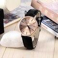 V6 reloj de lujo de oro rosa reloj de las mujeres relojes correa de cuero reloj de señoras del reloj relogio feminino reloj mujer montre femme saat