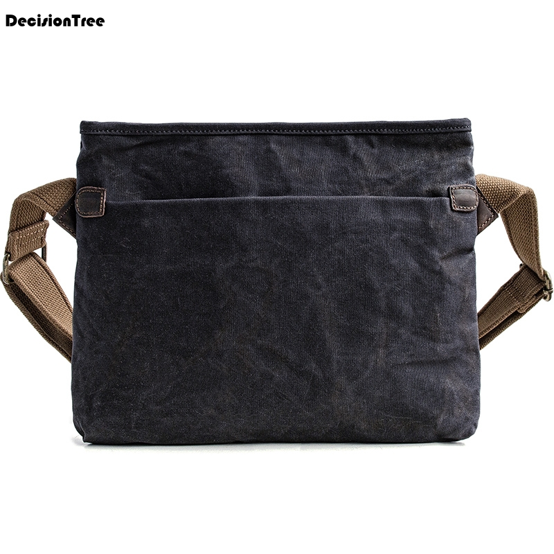 Mens Vintage Cloth Briefcase Waterproof Adjustable Shoulder Strap Work Bag Casual Business Commuter Bags Bolso Hombre ZM40