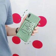 Cartoon power of love crocodile pattern phone case for iphone XS MAX XR X 6 6s 7 8plus cute TPU soft shell capa back