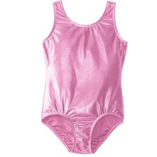 Speerise Girls Kids Shiny Metallic Lycra Spandex Gymnastics Dance Sleeveless Leotards Dancewear Toddler Tank Sparkle Leotard