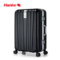 Hanke Aluminum Luggage Suitcase Spinner Wheels Women Men Trolley Case Rolling Carry Ons PC Travel Luggage Box 20 24 Inch H9822