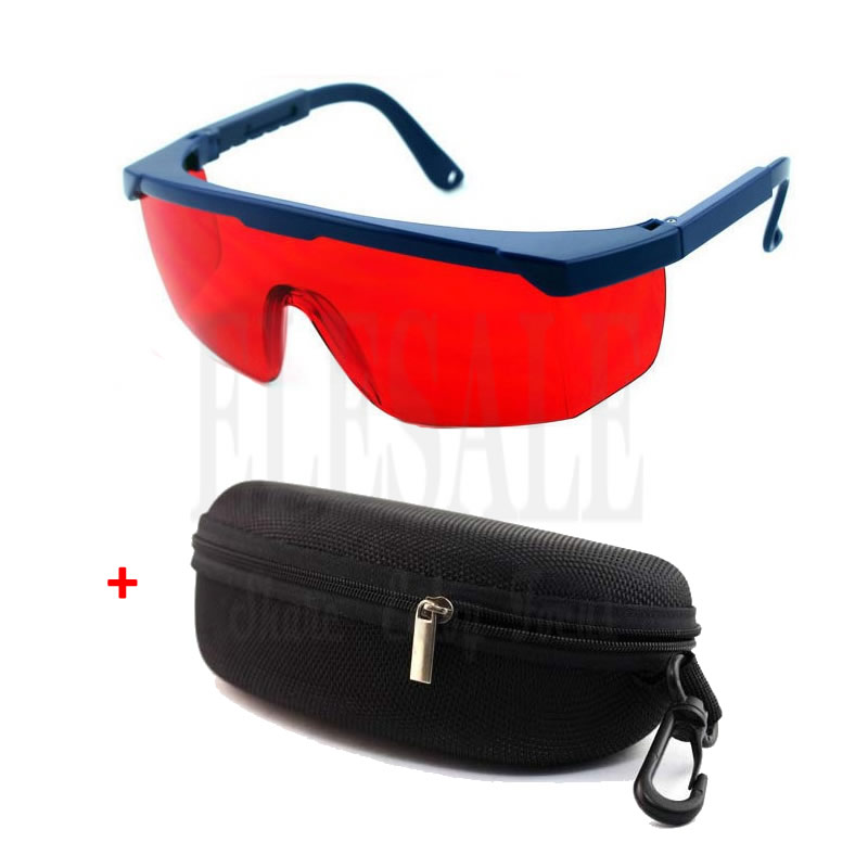 Red Lens Laser Eye Protection Safety Glasses With Portable Case For Preventing Green Laser 200nm-540nm Work Safety Goggles laser safety glasses 190 540nm