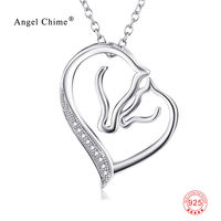 New Brand Design Heart Necklace For Women 18 Inches 925 Sterling Silver Collar Necklace Lady