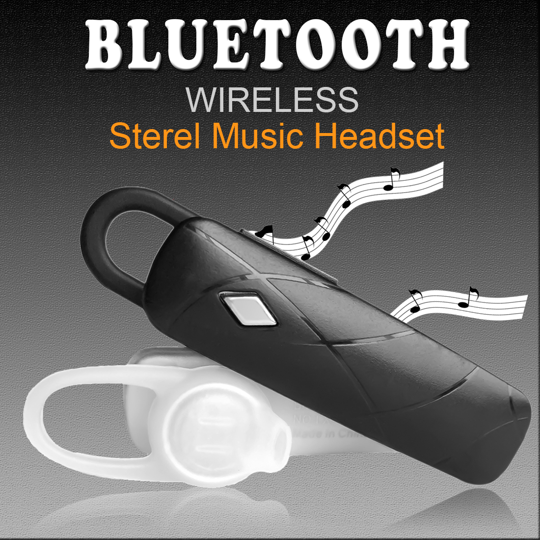 MAIF Stereo Bluetooth Headset Headphone Wireless Earphone with Mic Sport Music Earpiece For iPhone Android All Smart Phone qcy sets q26 mini business headset car calling wireless headphone bluetooth earphone with mic for iphone 5 6 7 android