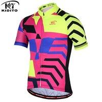 KIDITOKT Men Cycling Jersey 2017 Fashion Summer Bike Clothes Short Sleeves Bike Jersey Cycling Clothing XS