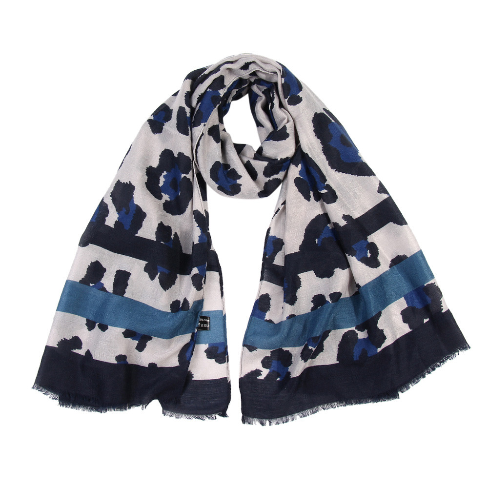 Autumn Winter Female Women Ladies Leopard Print   Scarf     Wrap   Shawls Headband Soft Shawl Long   Scarf   7.22
