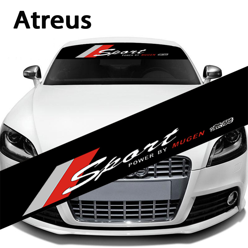 Atreus 1X Car Automobiles Waterproof Auto Car Front Window Windshield Decal Sticker For Honda Civic Camry Ford Focus Car-styling