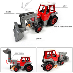 Image 5 - Promotion! Alloy Glide farmer engineering van car educational toys tractor scale models childrens toy