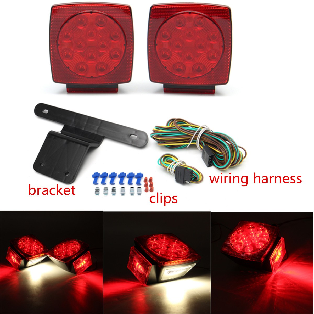2pcs Led Tail Light Assembly Brake Stop Submersible License Lights Trailer Harness Kit Side For Boat Rv Camper Over 80 In Truck System From Automobiles