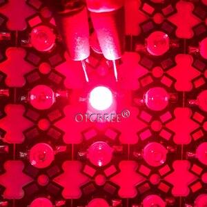 Image 5 - Lampe LED COB SMD, rouge profond, 660nm, pour culture de plantes et fruits, 100 pièces, éclairage pour culture de plantes, 3W, puce LED pièces