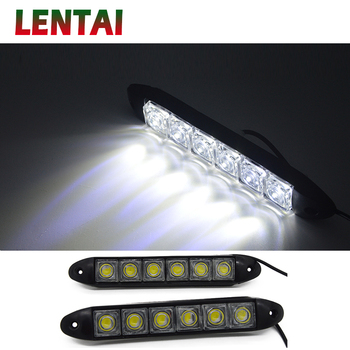 LENTAI 1Set 6 LED Car Daytime Running Lights DRL Fog Lamp For Mercedes W203 W204 BMW E39 E36 E90 F30 F10 Volvo XC60 XC90 Alfa image