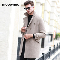 2018 new winter coat men high quality Double side Classic trench coat men parka,men's Double breasted jacket plus size M XXXL