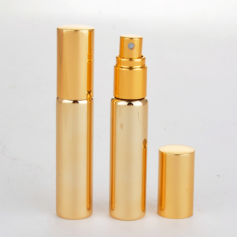 Image 4 - Wholesale 100 Pieces/Lot 10ML Portable UV  Glass Refillable Perfume Bottle With Aluminum Atomizer Empty Parfum Case For Traveler-in Refillable Bottles from Beauty & Health