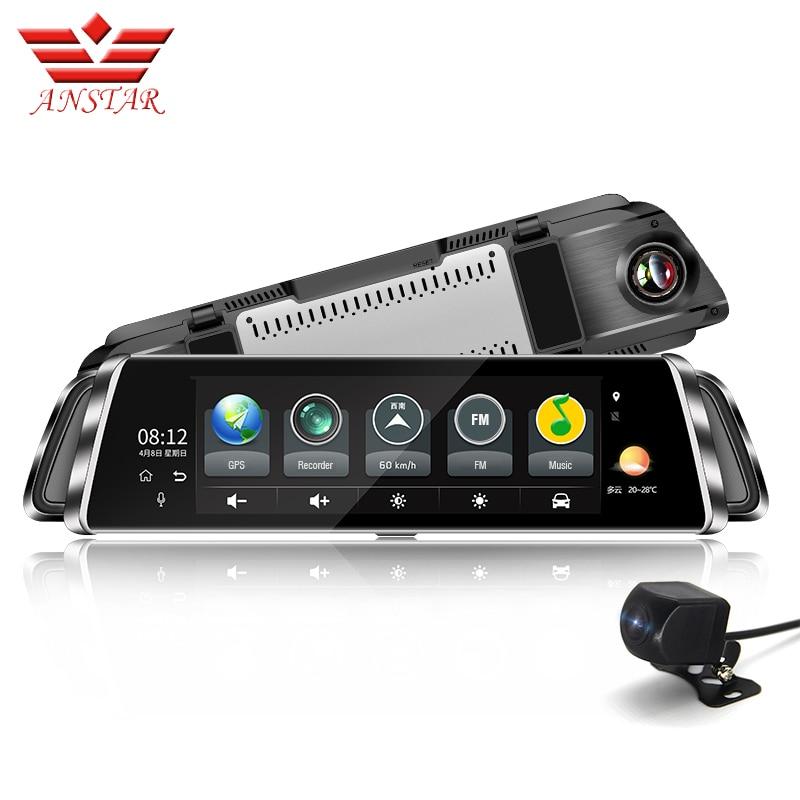 ANSTAR 10 Inch Dashcam Full HD 1920x1080 Mirror DVR Night Vision Car Recorder 4G Wifi ADAS