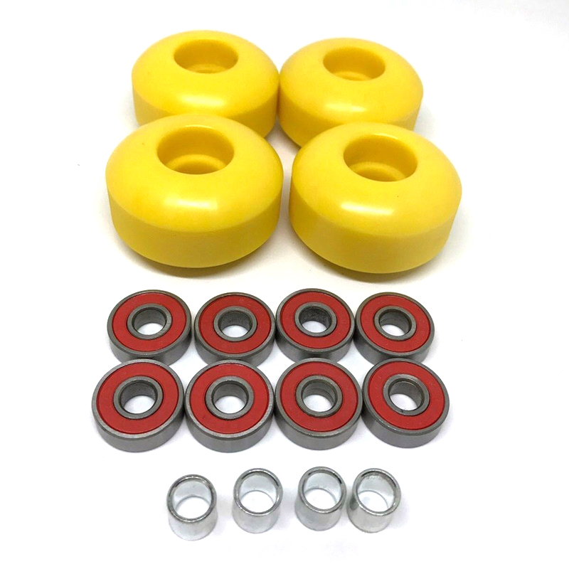 52mm 101a Skateboard Cruiser Wheels +8pcs ABEC9 Bearings With Spacers Repair Kit