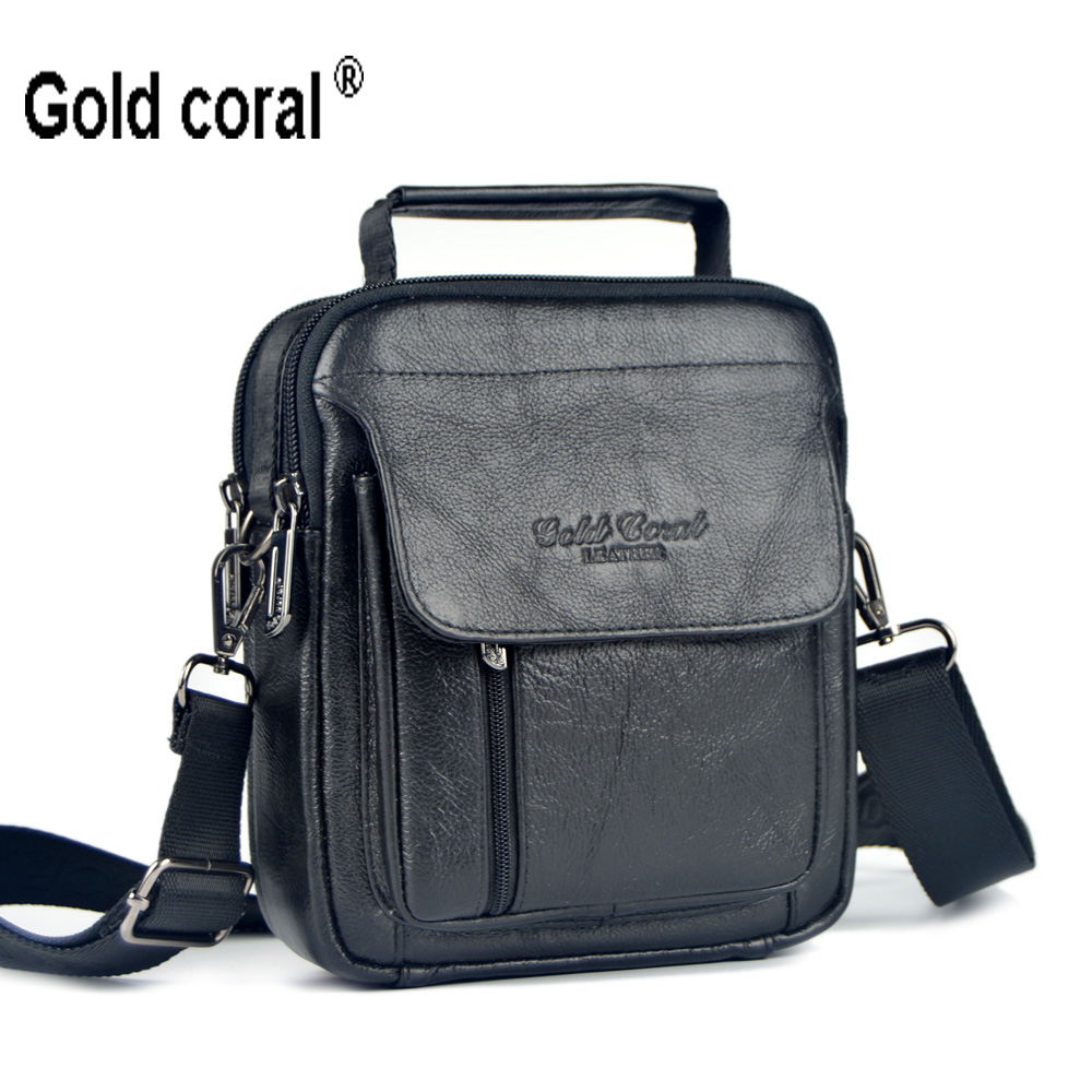 Gold coral new arrival male waist pack genuine leather handbag man bag shoulder bag small messenger bags for men cowhide meigardass new style male genuine leather handbag man bag crossbody shoulder bag small casual messenger bags for men cowhide