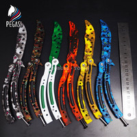 PEGASI CS GO Training Butterfly In Knife Counter Strike Game Claw Karambit Folding Trainer Knive Dull
