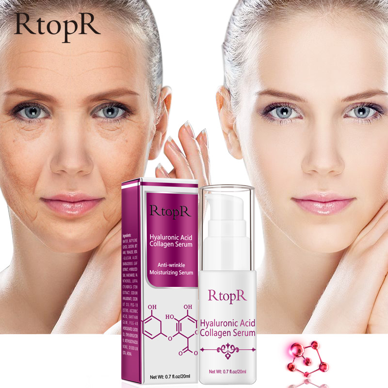 RTOPR Hyaluronic Acid Collagen Face Serum Acne Treatment Anti Wrinkle Skin Care Essence Face Care Whitening Anti-Aging Serum