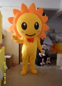 Image 2 - Sunflower Mascot Costume Adult Size Fancy Dress Mascot Costume Fancy Dress Christmas Cosplay for Halloween party event