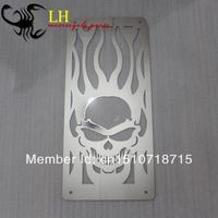Motorcycle Accessories Parts Chrome Skull Flame Radiator Grille Cover Stainless For Suzuki Boulevard M50 C50 Volusia 800
