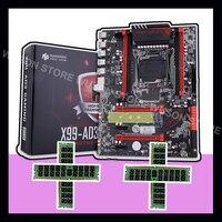 Бренд HUANANZHI X99 LGA2011 3 скидка материнская плата с M.2 NVMe материнская плата со слотом с Оперативная память 64G (4*16G) 1866 регистровая и ecc память память