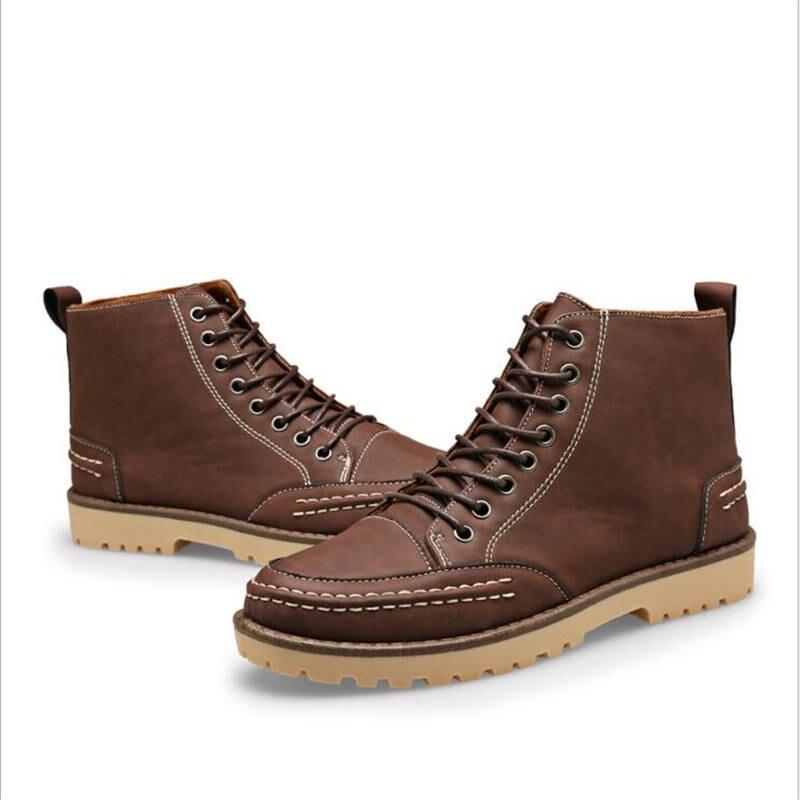 Spring Autumn winter Leather Men font b Boots b font High Quality Men font b Ankle