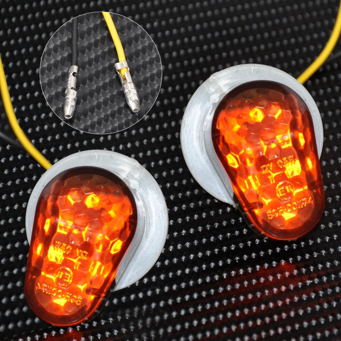 Smoke LED Turn Signal Indicator Blinker Flush Mount  For Yamaha YZF R1 R6S FZ6R