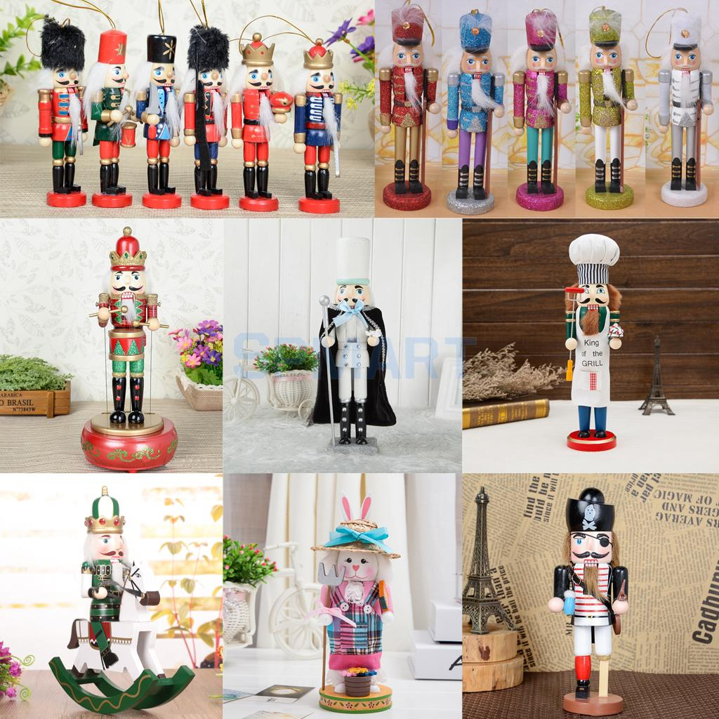 Various Exquisite Painted Wooden Nutcracker Solider/Cooker/Rabbit Man Handcraft Gift Home Christmas Decor Display майка борцовка print bar painted man