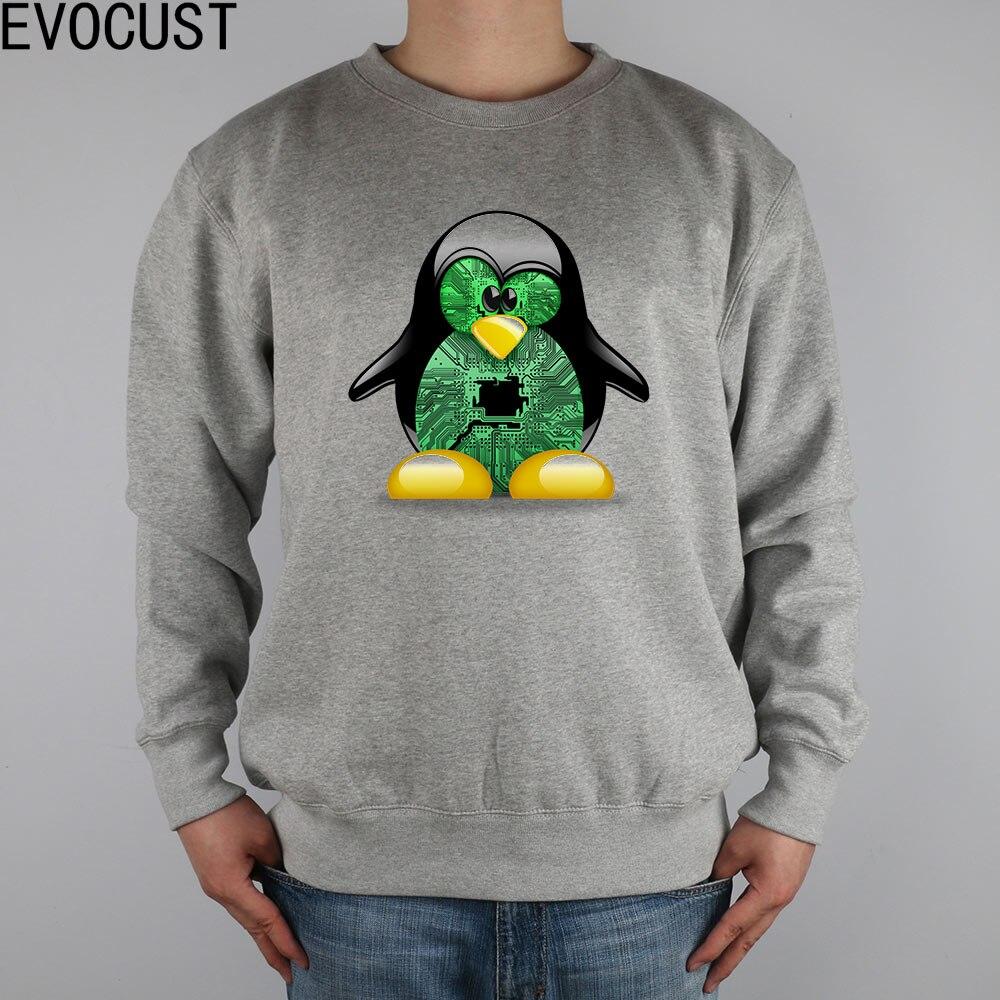 Linux Penguin Tux Windows Server Batman Dark Knight Gnu Opensuse men Sweatshirts Thick Combed Cotton