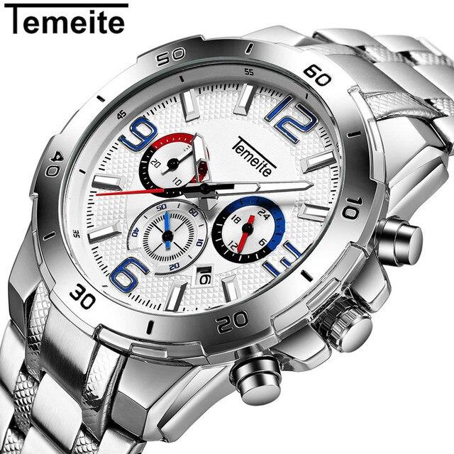 c04ce9a3b68 Temeite Men Sport Watch Marca de Luxo de Quartzo relógio de Pulso dos homens  À Prova