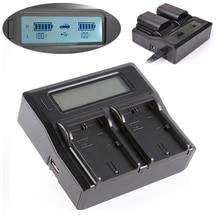 LCD Dual Cargador de Batería Para Canon LP-E6 LC-E6E 7D Mark II 6Da 5DS R 6D 60D 70D