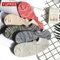 5 Pairs 2018 Sock Slippers Men Summer Thin Invisible Shallow Mouth No Show Solid Color Socks