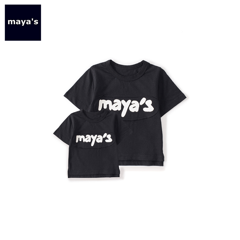 T-Shirts Tops Matching Black BABY Boys Fashion Children New ME Basic Patchwork Soft 91232