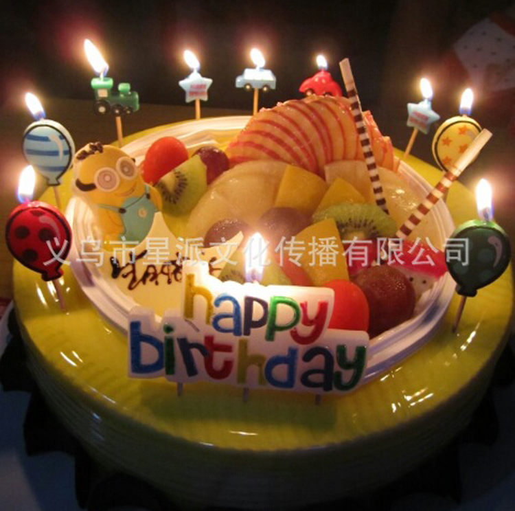 NEW 24 PacksLot Happy Birthday Candles Candle Cute HAPPY BIRTHDAY