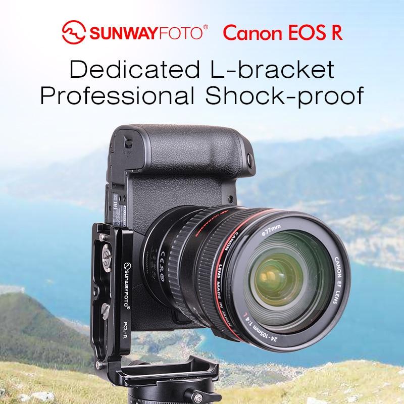 SUNWAYFOTO PCL-R tête de trépied plaque de dégagement rapide pour Canon EOS R tête l-support spécifique en aluminium plaque de dégagement rapide