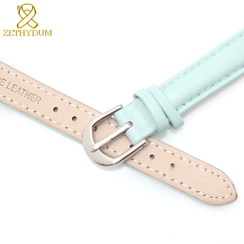 2a1dff2a9 Genuine leather bracelet womens watchband plain wristwatches band blue pink  gray color watch strap 14 16 18 20 mm soft band-in Watchbands from Watches  on ...
