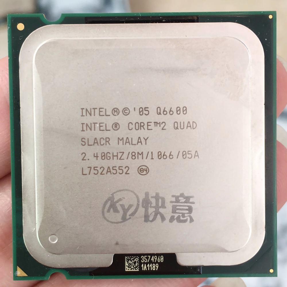 Intel Core2 Quad Processor Q6600 CPU 95W (8M Cache, 2.40 GHz, 1066 MHz FSB) SLACR GO LGA775 Desktop CPU free shipping