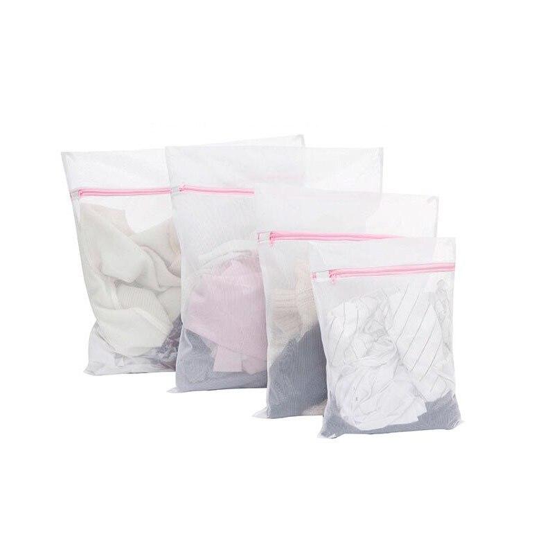 200pcs 30*40CM Washing Machine Specialized Underwear Washing Bag Mesh Bag Bra Socks Lingerie Zipped Laundry Bags ZA5055